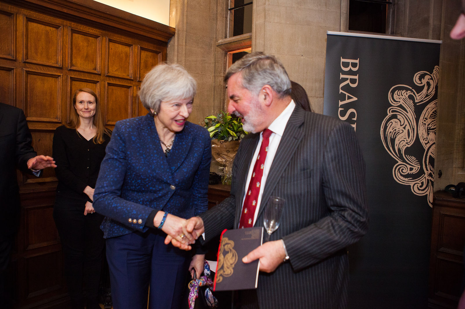 The Rt Hon Mrs Theresa May and John Alderice