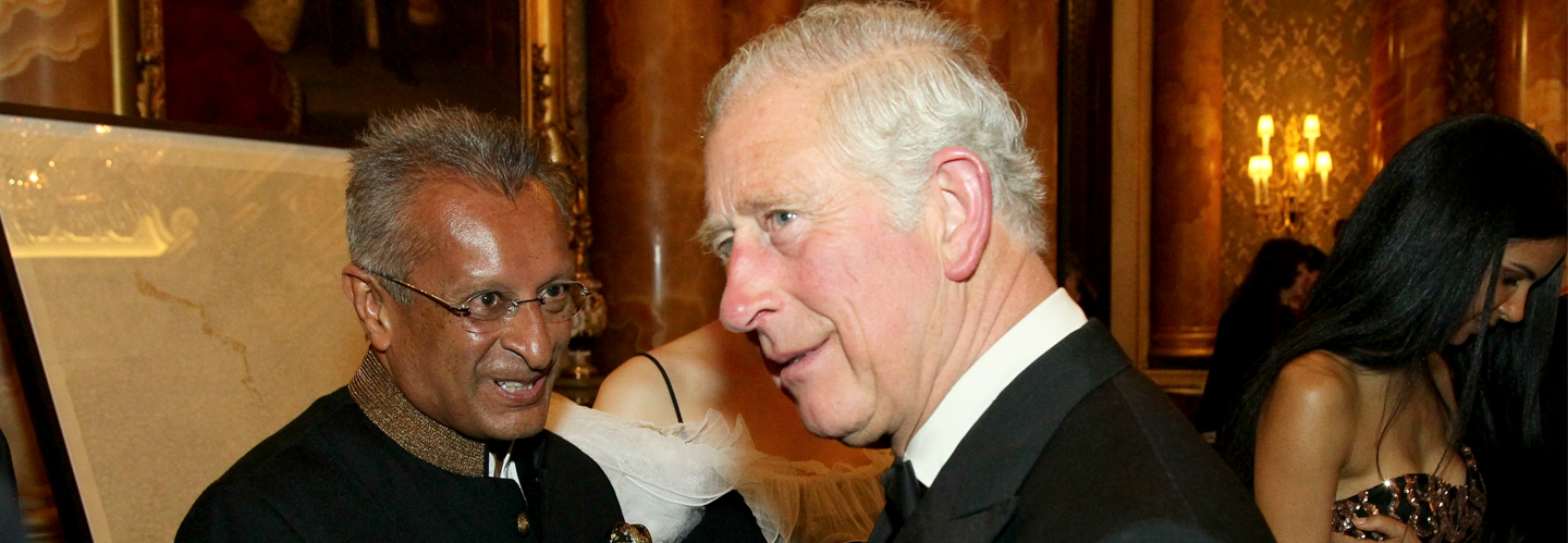 Prince of Wales with Mohamed Amersi